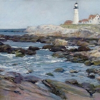 Lighthouse. Portland, Maine