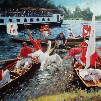 Swan Upping, Henly