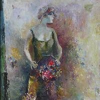 Woman with Flowers