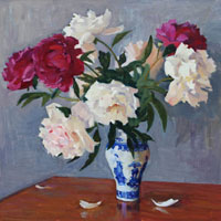 Still Life with Peonies in Chinese Vase