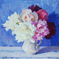 Peonies in Blue