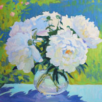 White Peonies en Plein Air