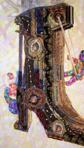 THE ASTRONAUTS CLIMB. From Orbiting Shoes Series -  Tapestries on Hangers
